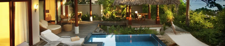Pool at 5* Hilton Seychelles Labriz Resort and Spa